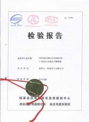 ZN21B(VB5)(4000-50)检验报告