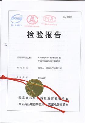 ZN21B(VB5)(4000-40)检验报告