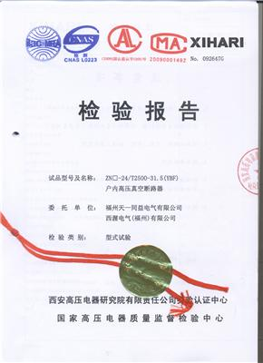 ZN-24  T2500-31.5检验报告